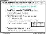 dos system service interrupts 25h 26h