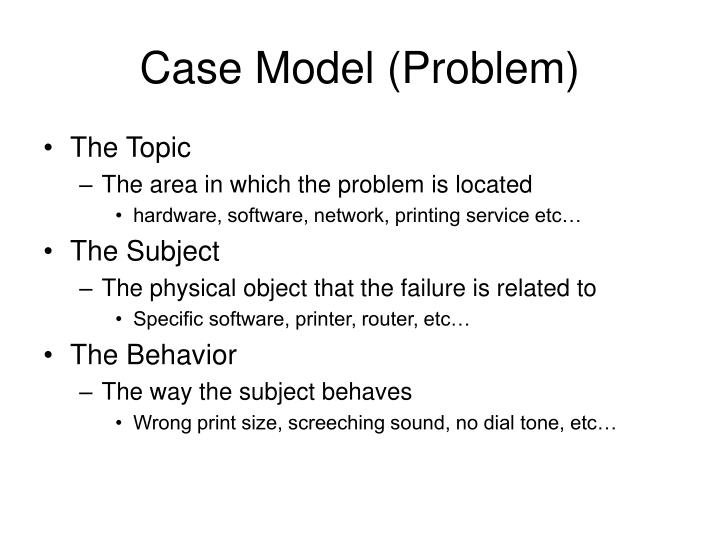 Case Model (Problem)