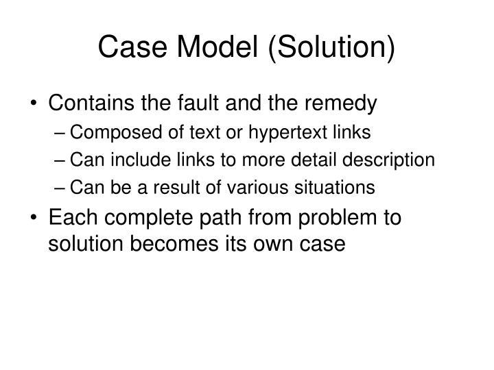 Case Model (Solution)
