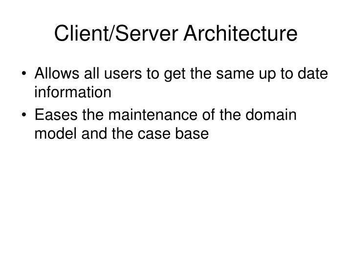 Client/Server Architecture