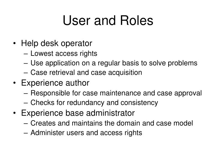 User and Roles