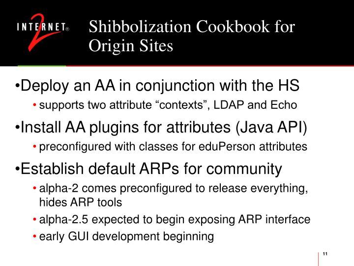 Shibbolization Cookbook for