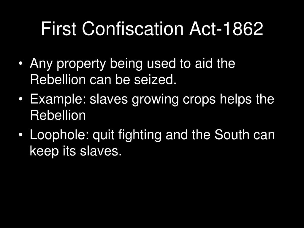 First Confiscation Act-1862