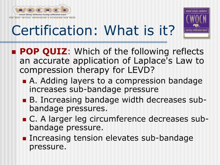 Certification what is it