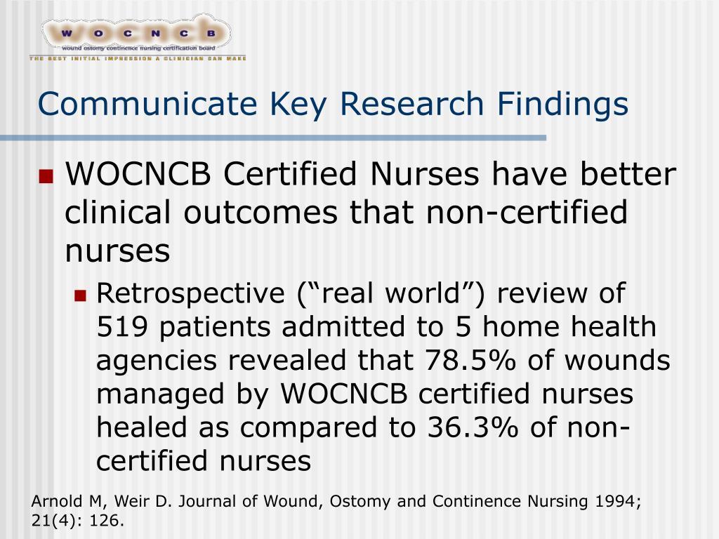 Communicate Key Research Findings