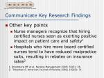 communicate key research findings35