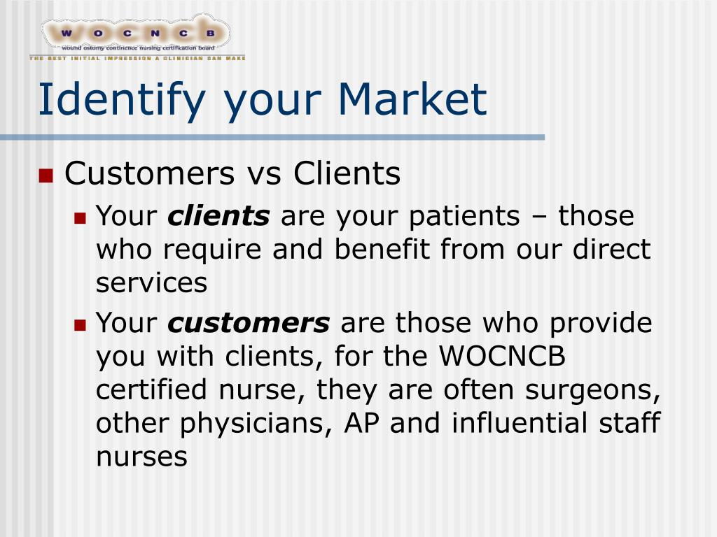 Identify your Market