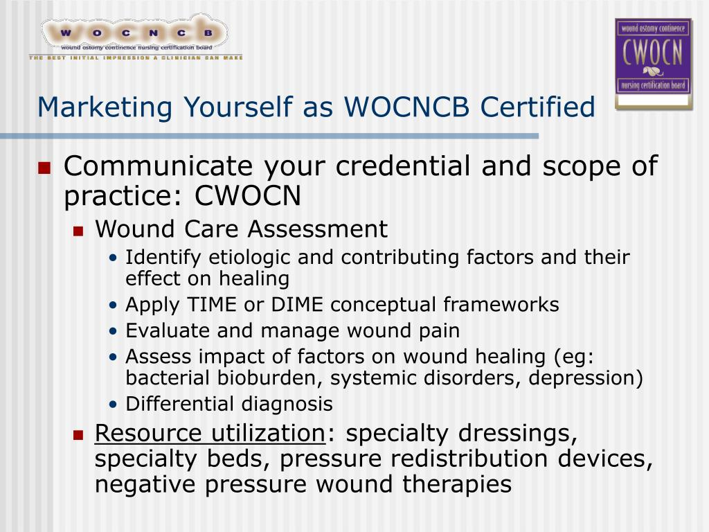 Marketing Yourself as WOCNCB Certified