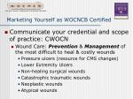marketing yourself as wocncb certified16
