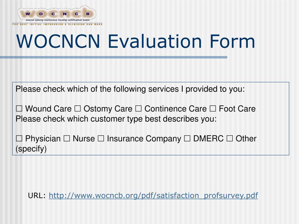 WOCNCN Evaluation Form