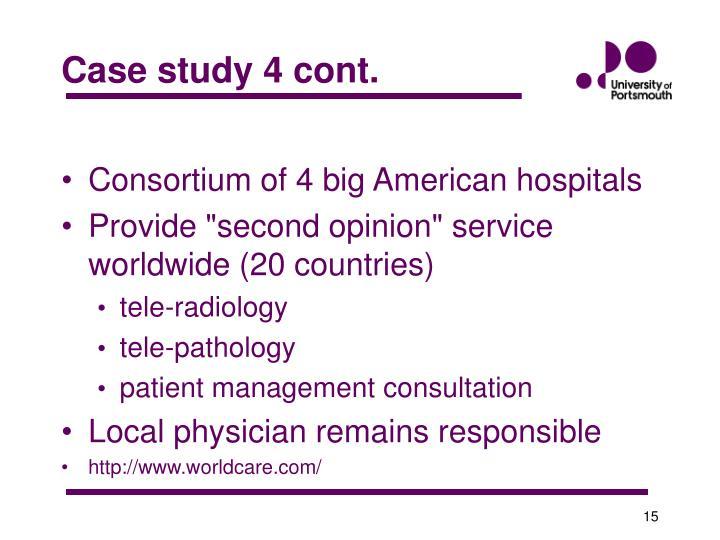 Case study 4 cont.