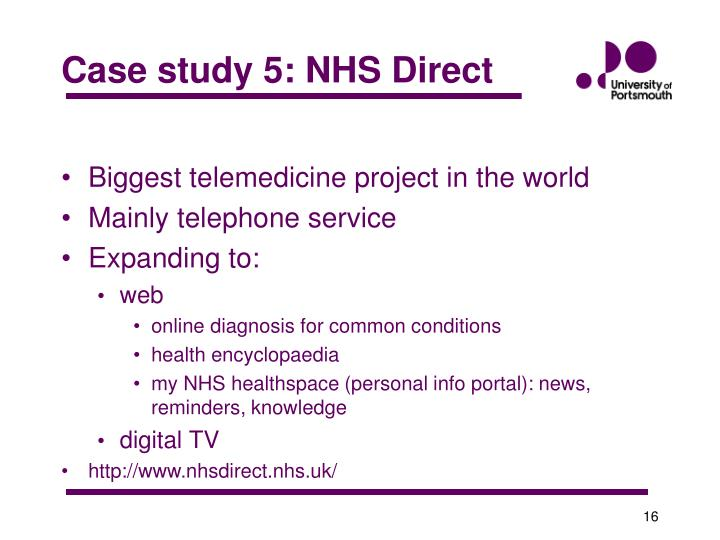 Case study 5: NHS Direct