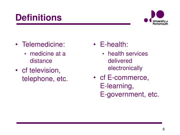 Telemedicine: