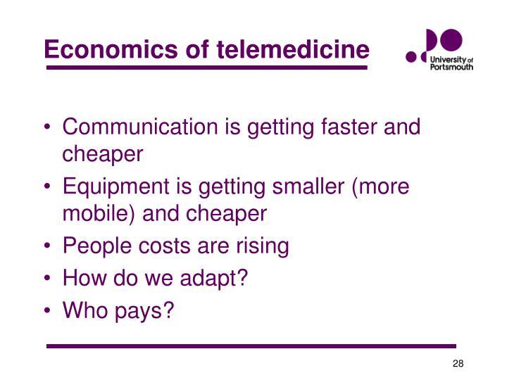 Economics of telemedicine