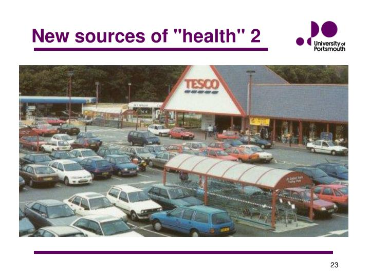"""New sources of """"health"""" 2"""