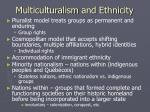 multiculturalism and ethnicity