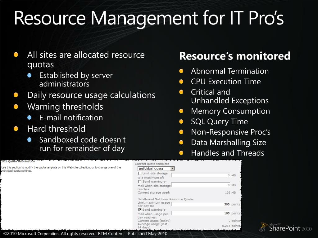Resource Management for IT Pro's