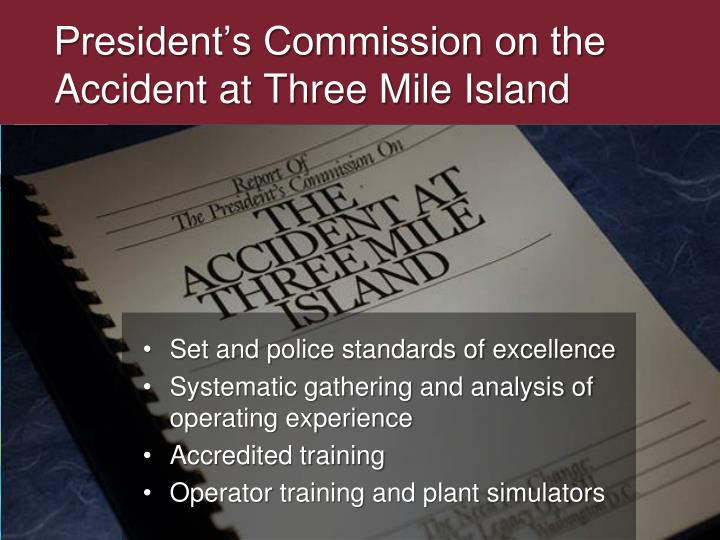President s commission on the accident at three mile island