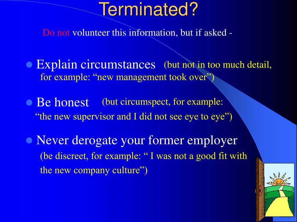 Terminated?