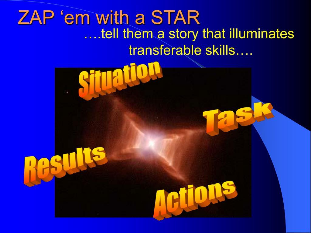 ZAP 'em with a STAR