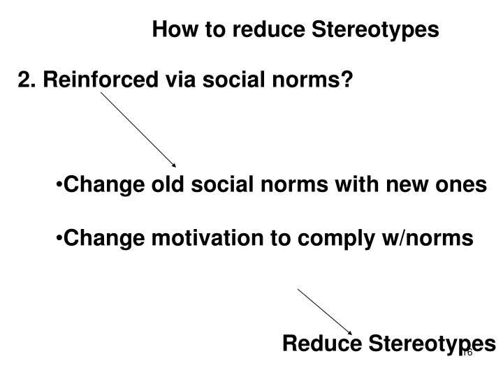 How to reduce Stereotypes