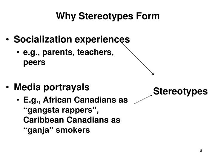 Why Stereotypes Form