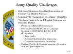 army quality challenges