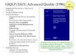 giqlp jacg advanced quality 1996