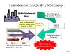 transformation quality roadmap