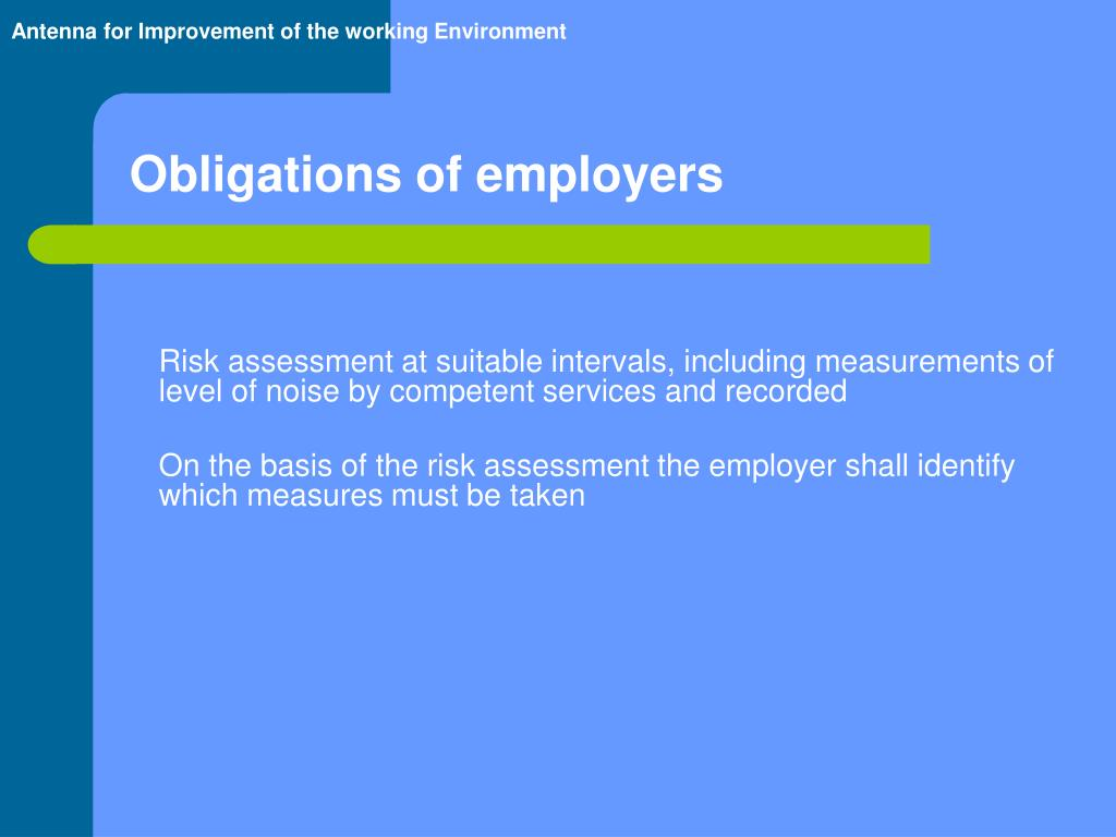 Obligations of employers