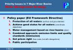 priority issues in 7 major river basins water management strategy