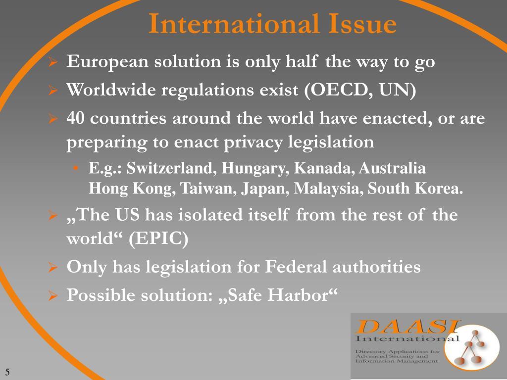International Issue