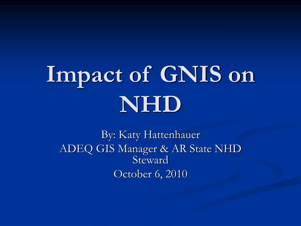 impact of gnis on nhd l.