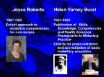 joyce roberts helen varney burst