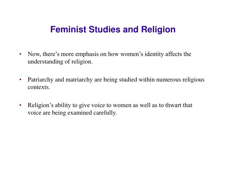 Feminist Studies and Religion