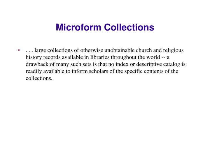 Microform Collections