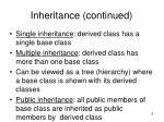 inheritance continued