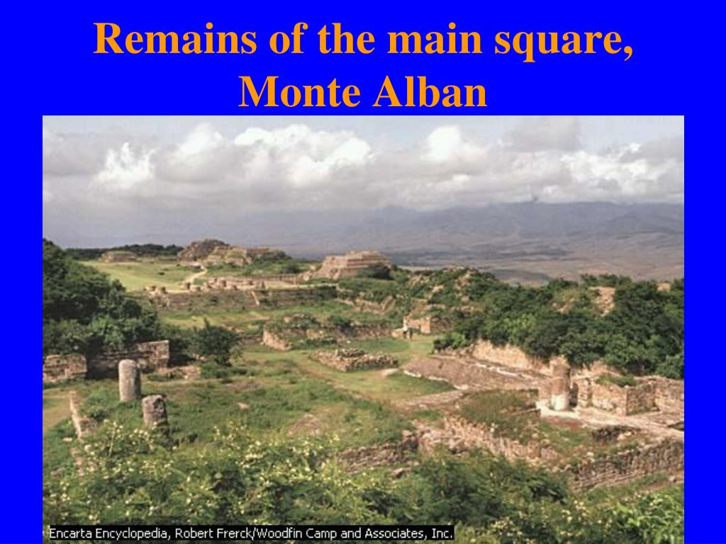 Remains of the main square, Monte Alban