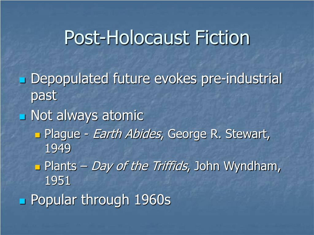 Post-Holocaust Fiction