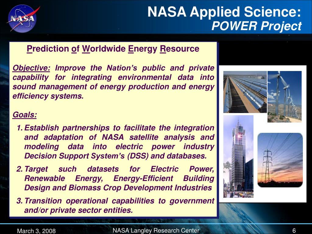 NASA Applied Science: