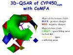3d qsar of cyp450 cam with comfa17