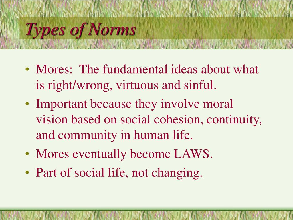 Types of Norms