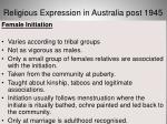 religious expression in australia post 194510