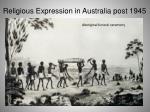 religious expression in australia post 194512