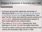 religious expression in australia post 194520