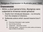 religious expression in australia post 194521
