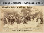 religious expression in australia post 194525