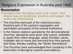 religious expression in australia post 194526