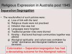 religious expression in australia post 194532