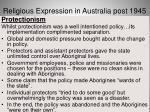 religious expression in australia post 194533
